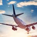 airplane flying away
