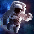 astronaut in space