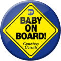baby on board pin