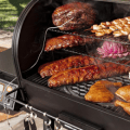 bbq grill with food