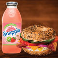 brueggers bagels snapple and sandwich