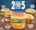 burger king 2 for 5