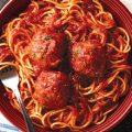carrabbas spaghetti and meatballs entree