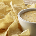 chips and homemade queso