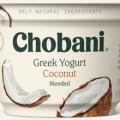 chobani coconut greek yogurt