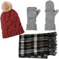 cold weather hats scarves gloves