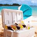 cooler on beach