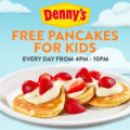 dennys free pancakes for kids