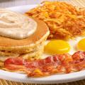 dennys pumpkin cream pancake breakfast