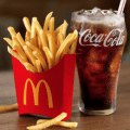 mcdonalds fries and drink