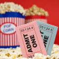 movie theater tickets and popcorn