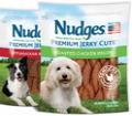 nudges dog treats