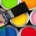 paint cans and brush