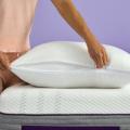 purple mattress and pillow