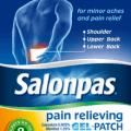 salonpas pain relieving gel patch