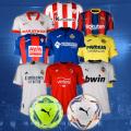 soccer jerseys and balls