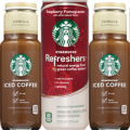 starbucks iced coffee and refreshers