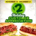 subway customer appreciation month