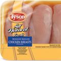 tyson boneless skinless chicken breasts